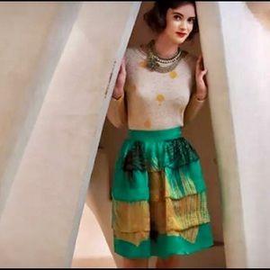 Sariah Green skirt from Anthropologie